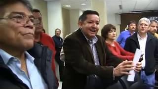 Se manifiesta el Consejo Sindical y Social Permanente en el  H. Congreso del Estado de Sonora