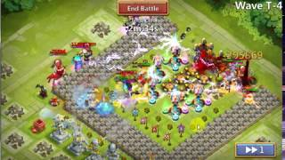 HBM T completed by only f2p heros | castle clash |