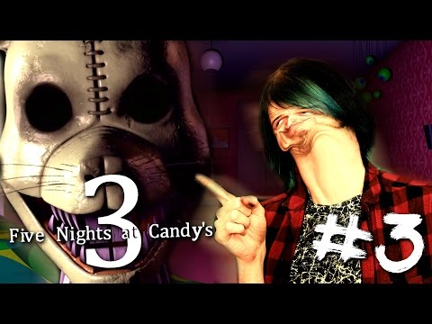 NIGHT 5, HE'S GOT A KNIFE! | FIVE NIGHTS AT CANDY'S 3 #3 | DAGames