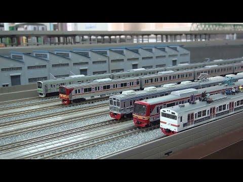 【鉄道模型】KRL JABODETABEK・PNR仕様自作車両走行