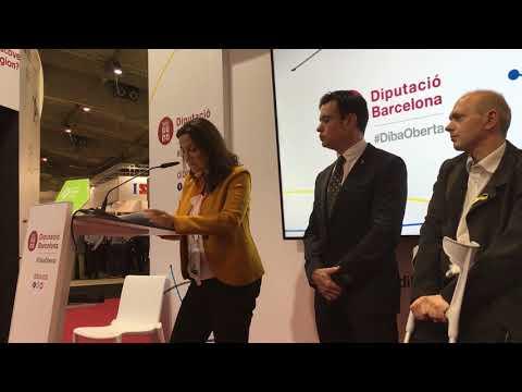 Intervenció de Mercè Conesa a l'estand de la Diputació de Barcelona a l'Smart City Expo