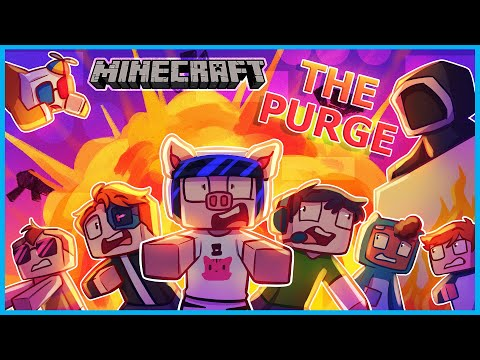 Minecraft but it's Day 1 of The Purge server... - I AM WILDCAT