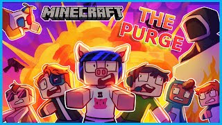 Minecraft but it's Day 1 of The Purge server...