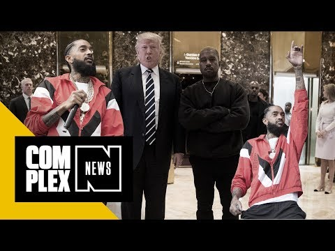 "Nipsey Hussle Performed ""FDT"" in Front of Kanye MAGA Selfie"