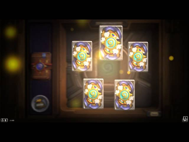 Opening 40 expert pack in Hearthstone Heroes of Warcraft