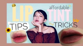 Lip Tint TIPS and TRICKS |Philippines