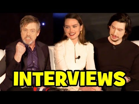 Download Youtube: STAR WARS THE LAST JEDI Cast Interviews - Mark Hamill, Daisy Ridley, Adam Driver, John Boyega