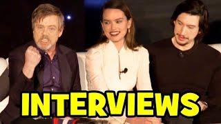 STAR WARS THE LAST JEDI Cast Interviews - Mark Hamill, Daisy Ridley, Adam Driver, John Boyega thumbnail