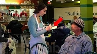 دخل متسول الى أحد المطاعم فرفضه الجميع | ولكن عندما علموا من هو شاهد ما حدث !!