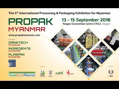 ProPak Myanmar 2018 - YouTube