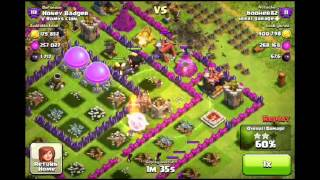 Clash of Clans - 1.1 Million+ Resources/2300+ dark- 10 Max Lvl 6 Wizards , 3 Max Healers,& company