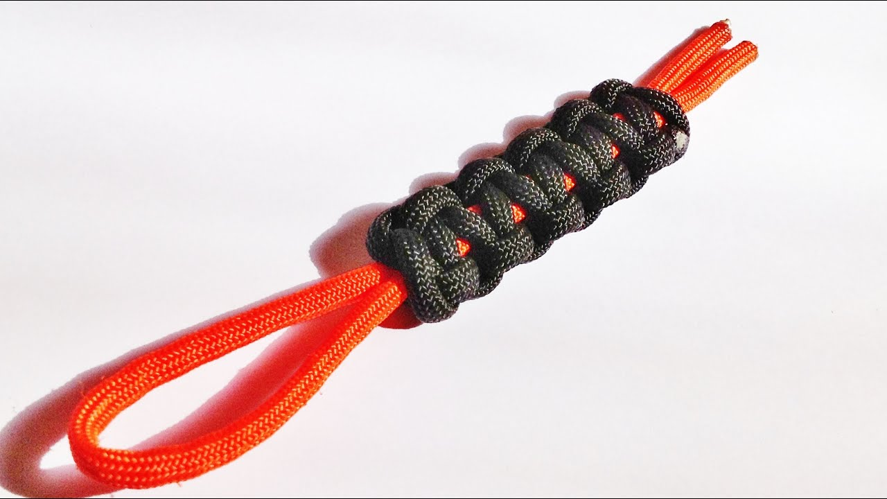 How To Tie Make A Paracord Cobra Stitch Lanyard Youtube