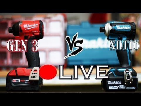 Best Impact Driver Tool Test - Milwaukee (2853-20) VS Makita (XDT16)