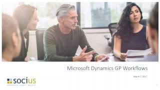 Dynamics GP 2016 Work Flows