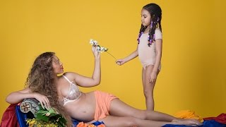 Blue Ivy Joins Beyonce for Adorable Mother-Daughter Maternity Photos -- See the Precious Pics!