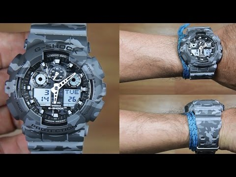 2910b509e26 CASIO G-SHOCK GA-100CM-8A CAMOUFLAGE EDITION - UNBOXING - YouTube