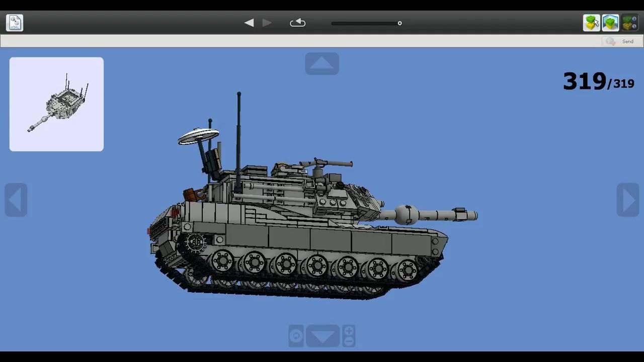 lego abrams tank instructions