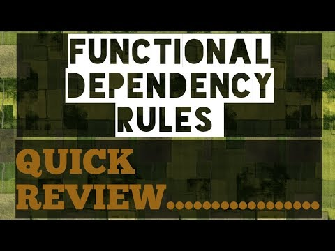 Functional Dependency RULES( 2 lecture)   DBMS