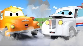 Tom The Tow Truck and Peter The Post Car in Car City | Car & Truck construction cartoon for children