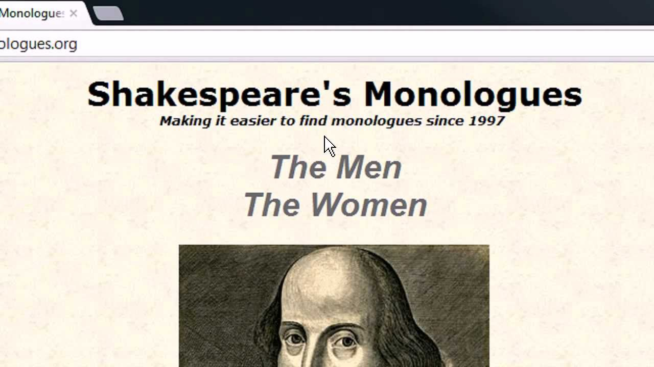 shakespeares monologues