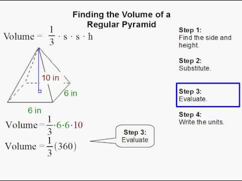 How to find the volume of a regular pyramid youtube how to find the volume of a regular pyramid ccuart Choice Image