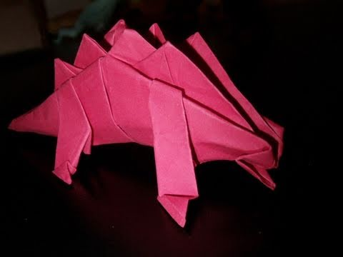 Origami Dinosaur Velociraptor - easy origami - How to make an ... | 360x480