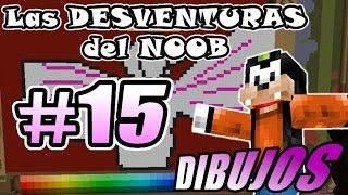 Minecraft | Las DESVENTURAS del NOOB #15 | Como DIBUJAR ( #SemanaDeLaNostalgia )