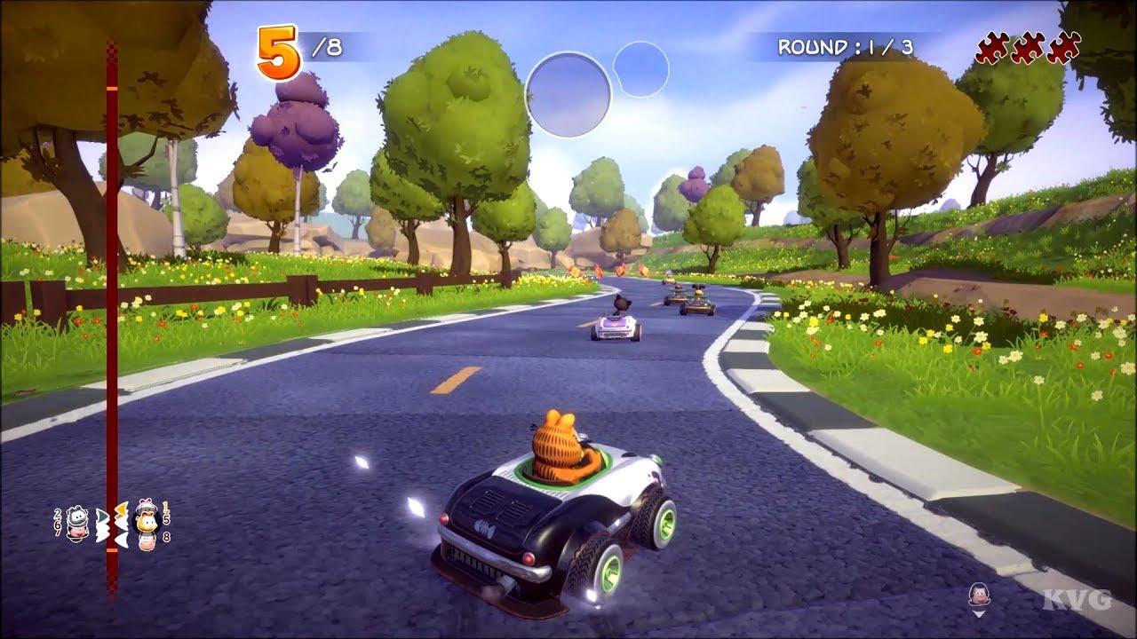 Garfield Kart Furious Racing Gameplay Pc Hd 1080p60fps Youtube