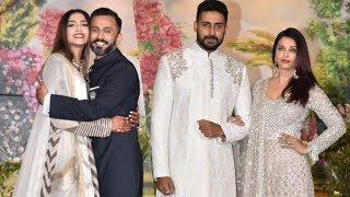 Video Gorgeous Aishwarya Rai Bachchan With Abhishek Bachchan At Sonam Kapoor's Wedding Reception download MP3, 3GP, MP4, WEBM, AVI, FLV Juni 2018