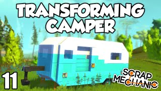 transforming camper house scrap mechanic beta 0 1 23 gameplay let s play and build ep 11