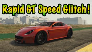 GTA 5 Online: Rapid GT Speed Glitch - Fastest Car In GTA 5!!