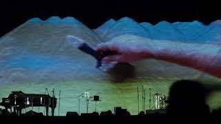 """""""Espectaculo Roto """"Intro"""" Visuales sobre montañas de sal."""