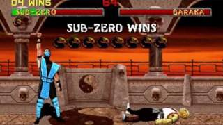 Mortal Kombat 2 - Sub-Zero Arcade playthrough