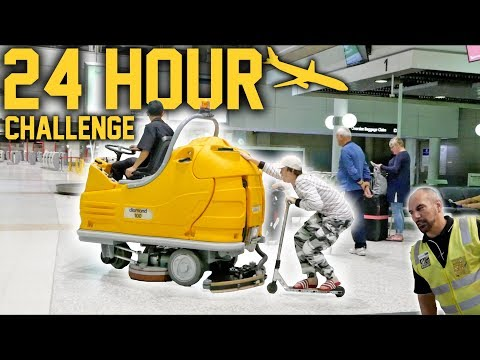 SAVAGE 24 HOUR OVERNIGHT CHALLENGE IN AIRPORT!
