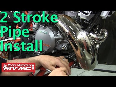 2 Stroke Motorcycle Pipe Installation