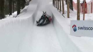 Austrian Bobsled crashes in St. Moritz