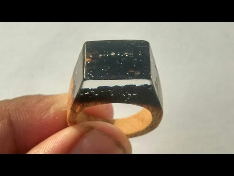 How to make DIY Secret Resin and wood ring from burn wood and epoxy resin | Resin Ring Resin jewelry