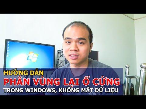 HƯỚNG DẪN PHÂN VÙNG LẠI Ổ CỨNG TRONG WINDOWS - CÁCH CHIA Ổ CỨNG - Chu Đặng Phú - Phu's Vlog