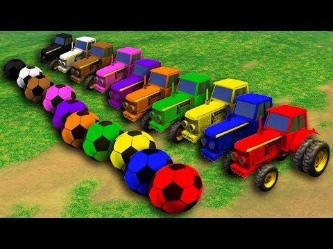 Tractores de Colores (Juego del pollito y el tractor modo fútbol)