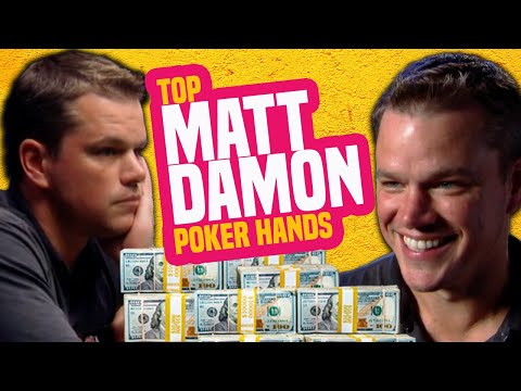 Matt Damon Best Poker Hands From The WSOP
