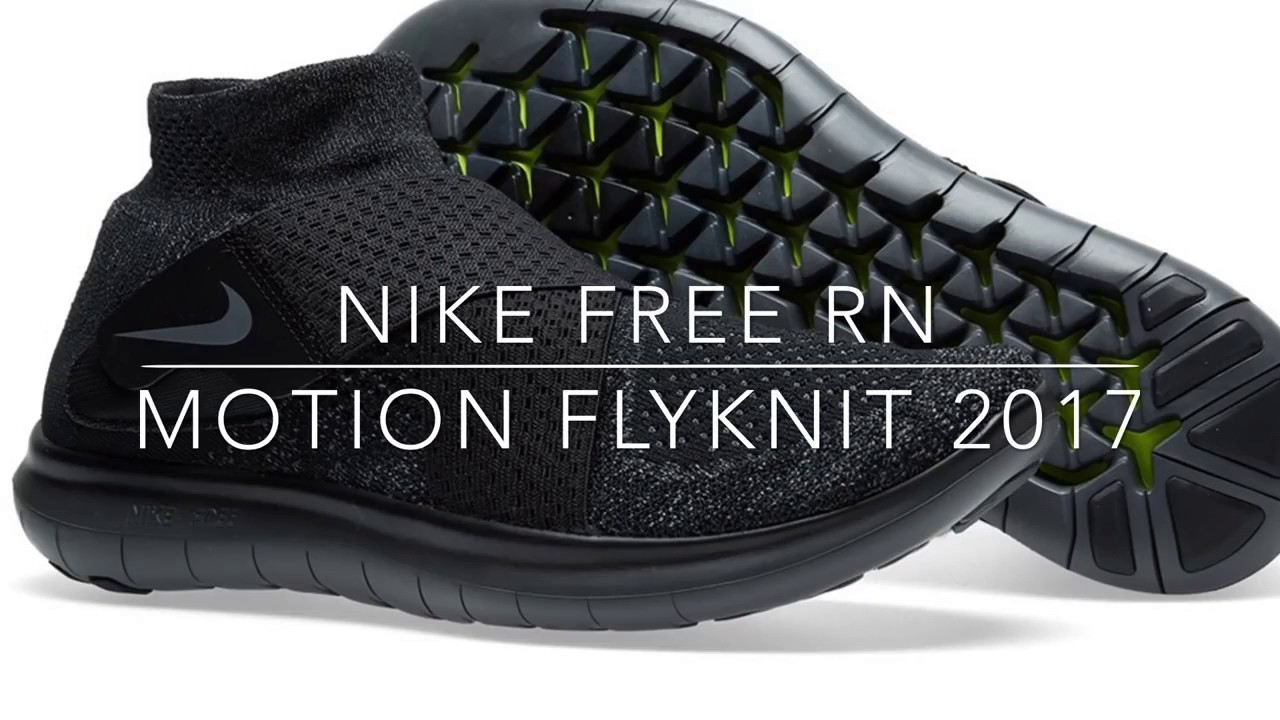 nike free rn motion flyknit 2017 triple black