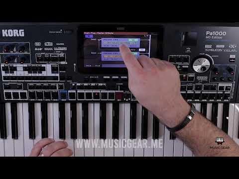 Korg Pa1000 MG **Creating New Sound** Part.8