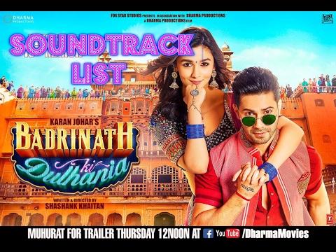Badrinath Ki Dulhania Soundtrack list