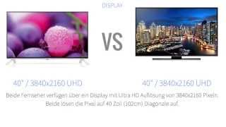 LG Electronics 40UB800V vs Samsung UE40HU6900 Fernseher-Vergleich [Deutsch]