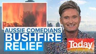 Hughesy using comedy to help bushfire victims   Today Show Australia