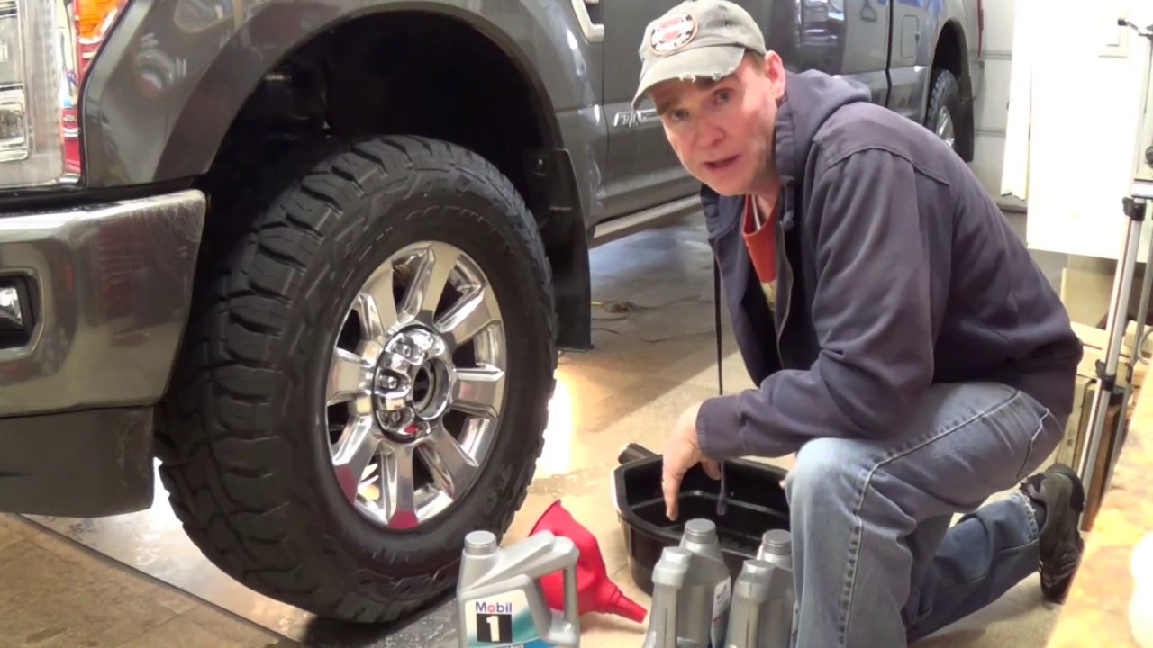 Oil Change 2017 2012 Super Duty Diesel 67l Youtube Ford F 350 Fuel Filter Location
