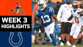 Browns vs. Colts | NFL Week 3 Game Highlights
