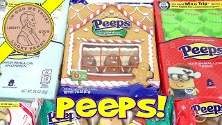 Peeps Minion Holiday Collection (microwaved!) Candy Cane, Trees, Sugar Cookie & Gingerbread