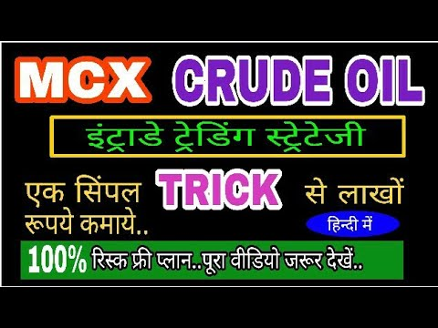 MCX CRUDE OIL BEST INTRADAY TRADING STRATEGY...(HINDI) NO LOSS KI GUARANTEE...
