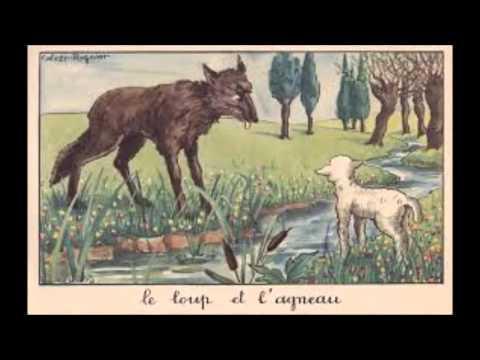 Les fables le loup et l agneau youtube - Dessin loup et agneau ...